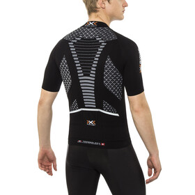 X-Bionic Twyce Biking Shirt SS Full Zip Men Black/White
